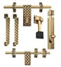 Klaxon Glorious 2 Brass Door Accessories Kit - Set of 6