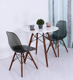 Komako Accent DSW Eames Replica Plastic Chair (Set of 2) in Smoke Colour