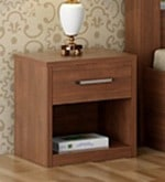 Kosmo Arena Bed side Table in Rigato Walnut Finish