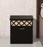Kosmo Classic Bedside Table in Natural Wenge Colour