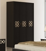 Kosmo Classic Three Door Wardrobe in Natural Wenge Colour