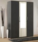 Kosmo Delta Three Door Wardrobe with Mirror