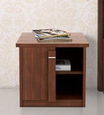 Kosmo Grace Bed Side Table in Rigato Walnut Finish
