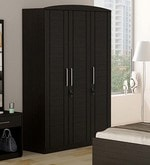 Kosmo Imperial Three Door Wardrobe in Natural Wenge Finish