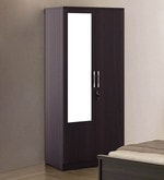 Kosmo Spin Two Door Wardrobe with Mirror in Fumed Oak Finish