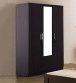 Kosmo Weave Three Door Wardrobe with Mirror in Vermount Finish
