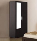 Kosmo Weave Two Door Wardrobe with Mirror in Vermount Finish