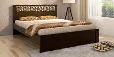 Kosmo Weave Queen Size Bed in Vermount Finish