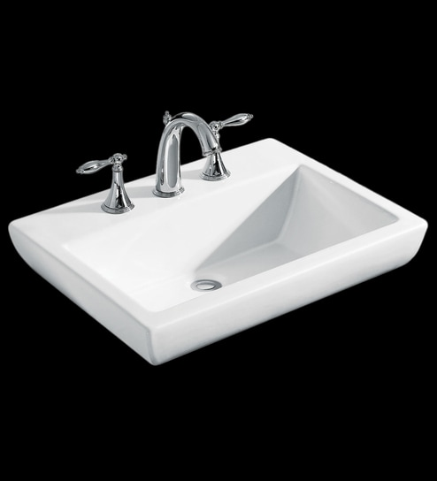 Buy Kohler Parliament White Ceramic Wash Basin with Single Faucet ...