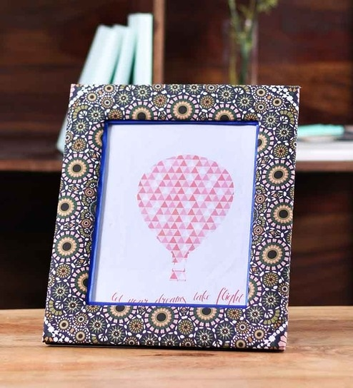Buy Kolorobia Multicolour Wooden Moroccan Photo Frame Online ...