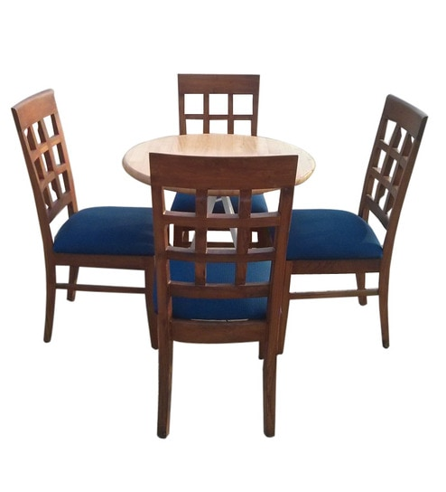 Komfort Stylish 4 Seater Dining Set With 30 Inch Round Table Top