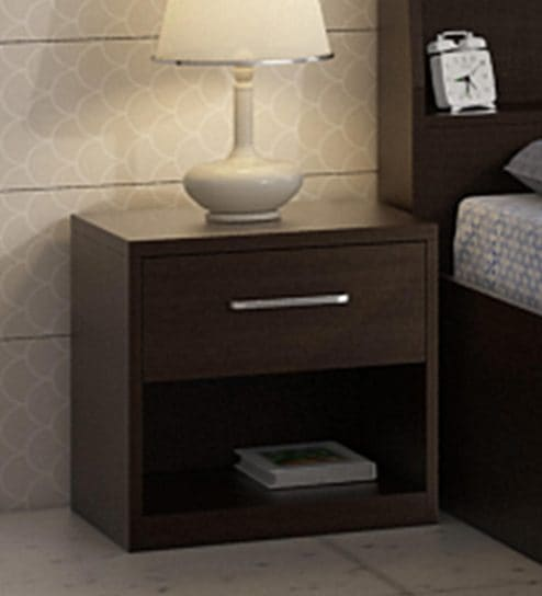 Kosmo Arcade Bed Side Table In Wenge Finish By Ewood