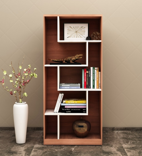 Kosmo Book Shelf In Woodpore Finish By Spacewood