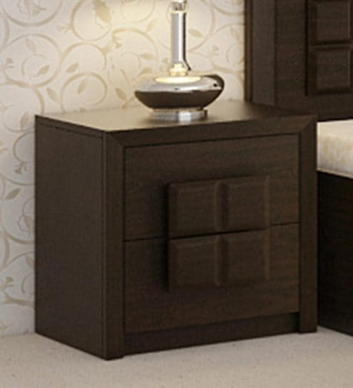 Buy Kosmo Choco Bed Side Table In Vermont Finish By