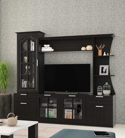 Remarkable Kosmo Madarin Wall Tv Unit In Natural Wenge Melamine Finish By Spacewood Beutiful Home Inspiration Xortanetmahrainfo