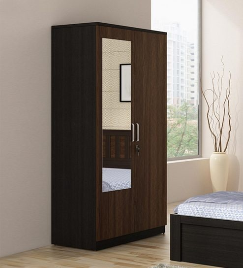 Kosmo Phoenix Two Door Wardrobe With Mirror In Wenge Colour By Spacewood