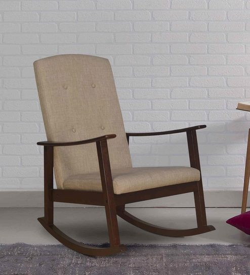 new style bee88 2baf2 Kosmo Solid Wood Rocking Chair in Walnut Colour by @home