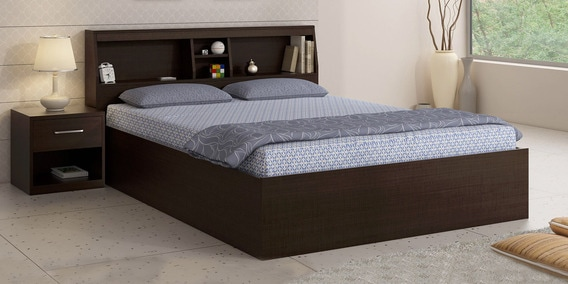 Kosmo Arcade Queen Size Bed With Box Storage By Spacewood