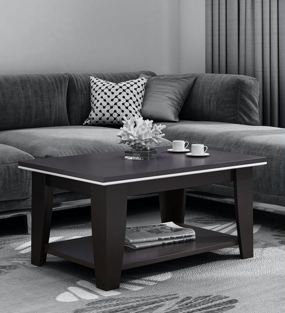 Buy Kosmo Centre Table In Natural Wenge Woodpore Finish By Spacewood Online Contemporary Rectangular Coffee Tables Tables Furniture Pepperfry Product