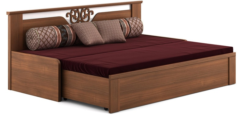 Buy Kosmo Ornate Sofa Cum Bed With Storage In Walnut