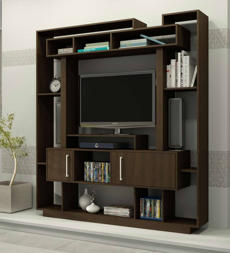 Buy Kohei Tv Unit In Nut Brown Finish By Mintwud Online