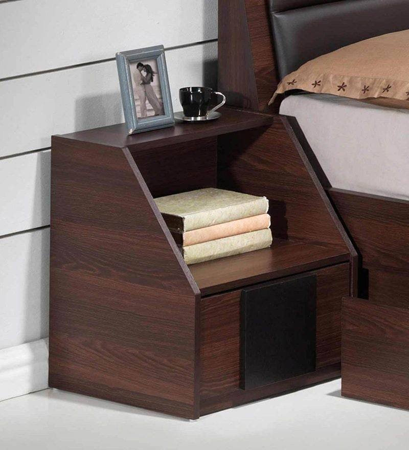 Ryouta Bed Side Table in Wenge Finish by Mintwud