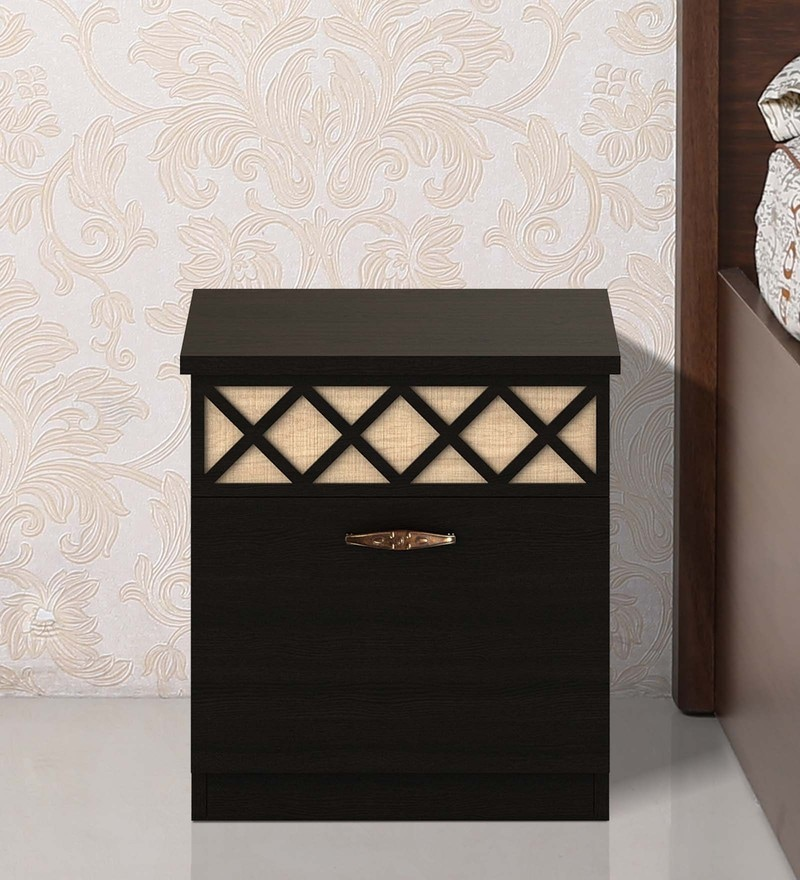 Kosmo Classic Bedside Table in Natural Wenge Colour by Spacewood