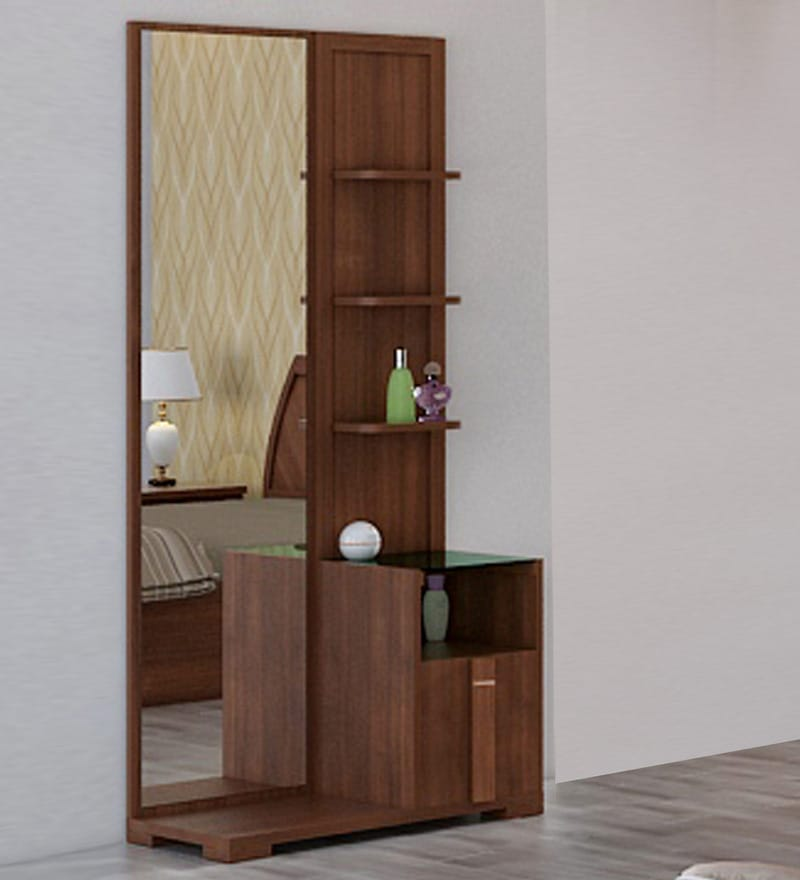 Buy kosmo grace dressing table in rigato walnut finish by for Dressing table long