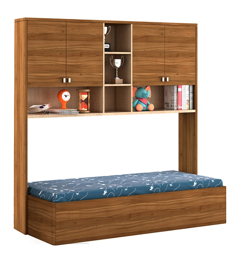 a07db264162 Buy Kosmo Oscar Single Bed with Wall Storage by Spacewood Online ...