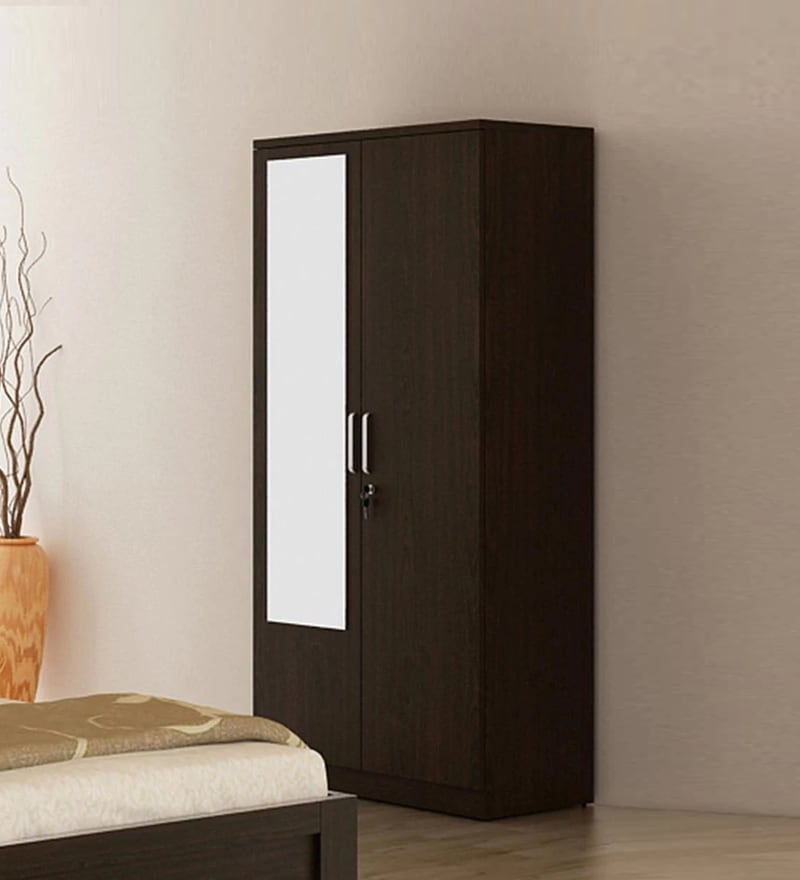 Buy Kosmo Weave Two Door Wardrobe With Mirror Amp Drawer In