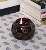 Kokoon Brown Ceramic Tea Light Holder