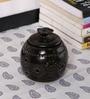 Kokoon Brown Ceramic Tea Light Holder with Flower Lid