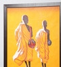 Canvas 30 x 0.5 x 38 Inch Two Monks Wall Painting by Kokoon