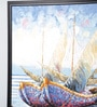 Canvas 42 x 1 x 50 Inch Boat Large Wall Painting by Kokoon