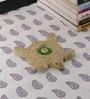 Kokoon Cream Ceramic Turtle Incense Holder