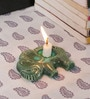 Kokoon Green Ceramic Elephant Tea Light Holder