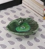Kokoon Green Ceramic Leaf Design Incense Holder