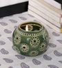 Kokoon Green Ceramic Tea Light Holder