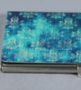 Multicolour on the Go Metal Turquoise Captivating Damask Visiting Card Holder by Kolorobia