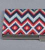 Kolorobia on the Go Metal Chevron Rich Ikat Visiting Card Holder