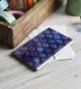 Kolorobia on the Go Metal Turquoise Captivating Damask Visiting Card Holder