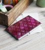 Kolorobia on the Go Metal Purple Riveting Tyrian Damask Visiting Card Holder