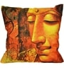 Orange Satin 12 x 12 Inch Hand Woven Cushion Cover by Komfi