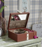 Premium Pu Brown Jewellery Box
