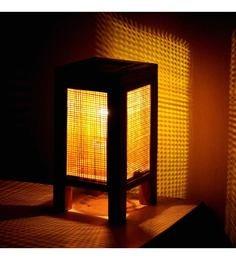 Kraftinn Contemporary Brown Bamboo Table Lamp