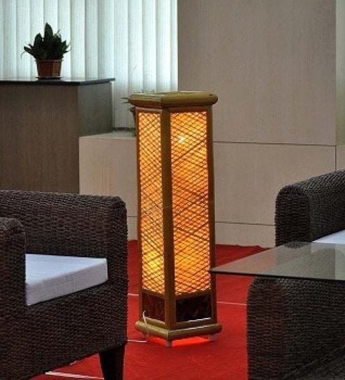 Buy Contemporary Bamboo Floor Lamp by Kraftinn Online ...