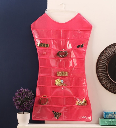 Buy Hot Pink Mesh 126 x 63 Inch DressShaped Jewellery Organizer