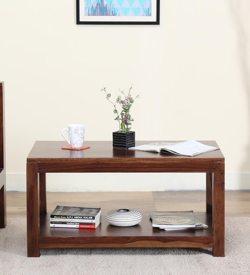 Kryss Coffee Table In Provincial Teak Finish by Woodsworth