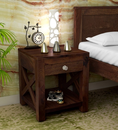 Kryss Solid Wood Night Stand In Provincial Teak Finish By Woodsworth
