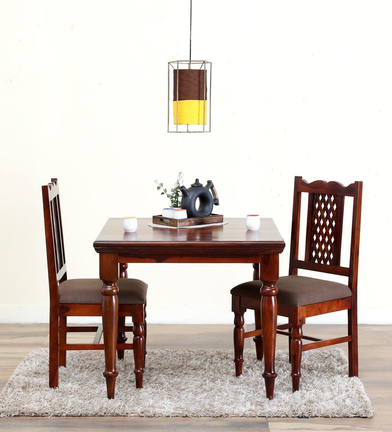 Krisa Two Seater Dining Set in Honey Oak Finish by Mudramark